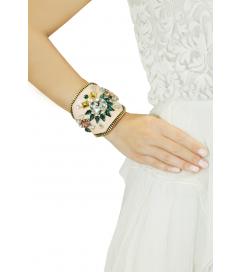 Armband 'Joy' beige smaragdgrün