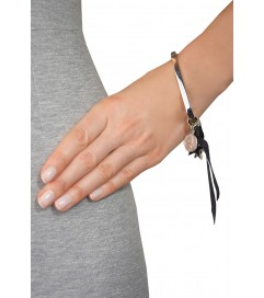 Armreif mit Medaillons silber