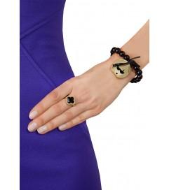 Armband Anna Wintour schwarz gold