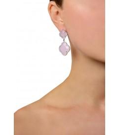 Ohrring 'Kleeblatt gross' Silber