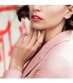 Armband 'Heartbeat' Silber rosé vergoldet