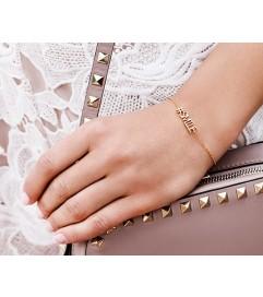 Armband '#SMILE' rosé