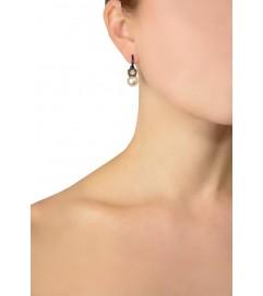 Ohrhänger Perle gold