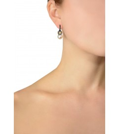 Ohrhänger Perle silber