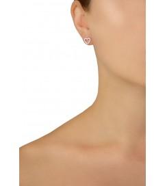 Ohrring 'Herz' silber