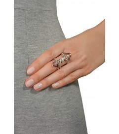 Ring 'Blogger' silber