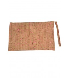 Clutch Tasche 'Natural' pink