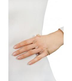 Amorium Silber Palm Cuff rosé vergoldet