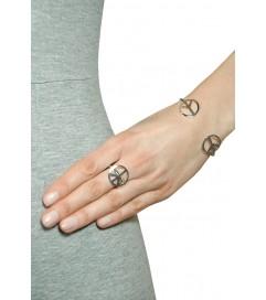 Armreif 'Peace' Sterling Silber
