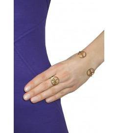 Ring 'Big Peace' vergoldet