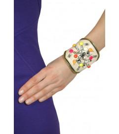 Armband 'Joy' beige neon