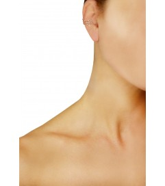 Kurshuni Mini Ear Cuff 'Crystals' rosé vergoldet