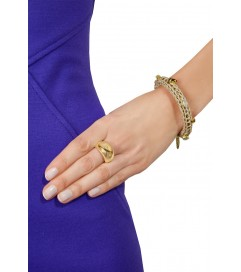 La Hola Armband 'Knit Wool' beige
