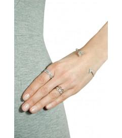 Leaf Ring 'LOVE' mit Zirkonia silber