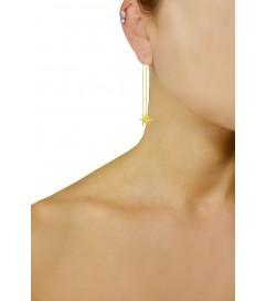 Ohrring lang 'Stern' vergoldet