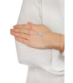 Kurshuni Handpiece 'Fatima Hand' rosé vergoldet