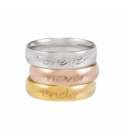 Ring 'Forever never ends' rosé vergoldet