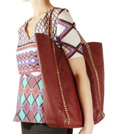 Handtasche 'My Shopper' bordeaux