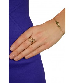 Leaf Armband 'Love' vergoldet