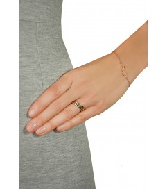 Leaf Ring Basic Silber vergoldet