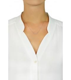 Leaf Halskette 'Bar' silber