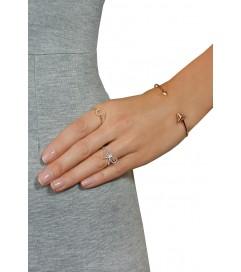 Leaf Ring mit Hufeisen rosé vergoldet