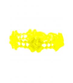 Armband 'Kleeblatt' neon gelb