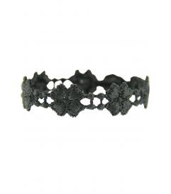 Armband 'Kleeblatt' anthrazit