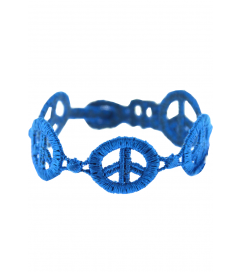 Armband 'Peace' kobalt blau