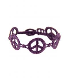 Armband 'Peace' violet