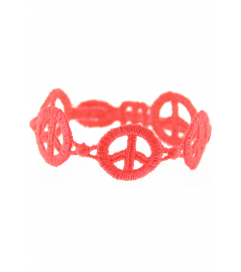 Armband 'Peace' neon pink