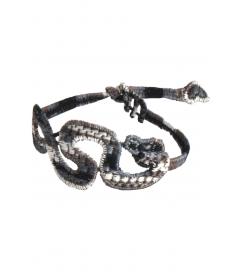 Armband 'Schlange' grau