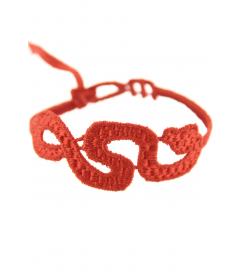 Armband 'Schlange' rot