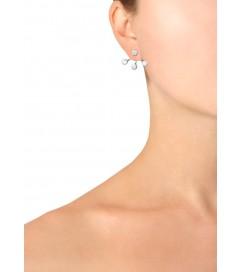 Pendel Ohrring '3 Stone' Silber