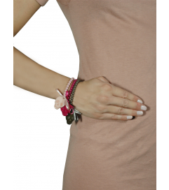 Armband 'Totenkopf' pink