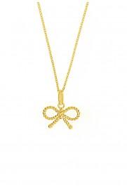Leaf Halskette 'Schleife' vergoldet