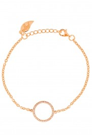 Leaf Armband Circle of Life rosé vergoldet