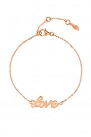 Leaf Armband 'Love' rosé vergoldet