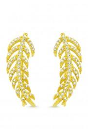 Amorium Earcuff 'Feder' vergoldet