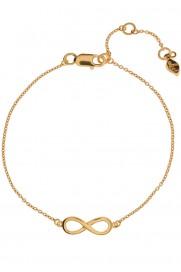 Leaf Armband 'Infinity' vergoldet