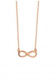 Leaf Halskette 'Infinity' rosé vergoldet