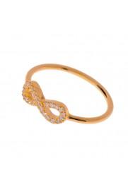 Leaf Ring 'Infinity' mit Zirkonia rosé vergoldet