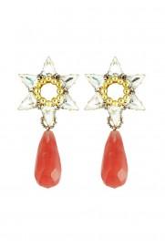 Ohrring 'Polaris Star' rosa-kristall