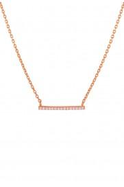 Leaf Halskette 'Bar' rosé vergoldet