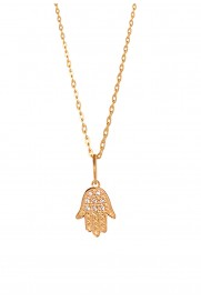 Leaf Halskette 'Fatima's Hand' vergoldet