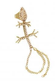 Handpiece 'Tanzanite Lizard' gold-rosa