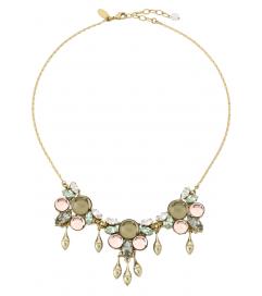 Kette 'Crystal Droplet' antik vergoldet