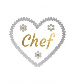 "Wiesn Metallic-Tattoo Herz ""Chef"""