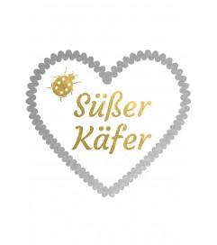 "Wiesn Metallic-Tattoo Herz ""Süßer Käfer"""