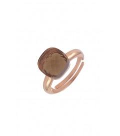 Ring mit Schmuckstein bronze